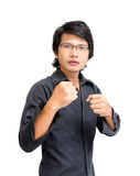 Asian man ready to fight Stock Images
