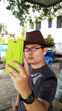 Asian Man Selfie with a Spectacles Royalty Free Stock Photography
