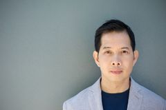 Asian man with serious expression Stock Image