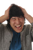 Asian man shout emotion Stock Image