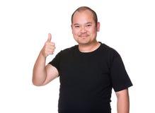 Asian man show thumb up. Isolated on white background Stock Image