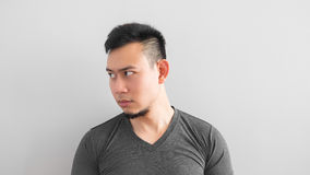 Asian man side face. Royalty Free Stock Photography