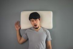 Asian man is sleeping. Stock Photography