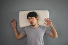 Asian man is sleeping. Royalty Free Stock Photography