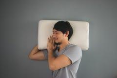 Asian man is sleeping. Stock Photo