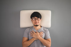 Asian man is sleeping. Stock Photos