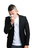 Asian man sneeze Stock Photos