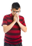 Asian man sneezing Stock Photography