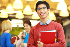 Asian man standing in campus Stock Photos