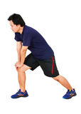 Asian Man Stretching Workout. Stock Images