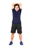 Asian Man Stretching Workout. Royalty Free Stock Photos