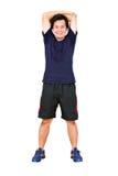 Asian Man Stretching Workout. Royalty Free Stock Photos