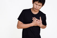 Asian man suffering from heart ache  Stock Image
