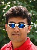 Asian man with sunglasses Royalty Free Stock Photography