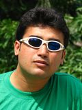 Asian man with sunglasses Royalty Free Stock Photo