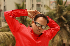 Asian man in sunglasses Royalty Free Stock Photos