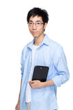 Asian man with tablet Stock Photo