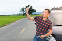Asian man taking selfie Royalty Free Stock Images