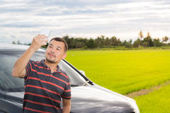 Asian man taking selfie Royalty Free Stock Photos