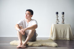 Asian Man Thinking Stock Photography