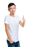 Asian man thumb up Stock Photo