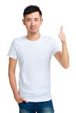 Asian man thumb up Stock Images