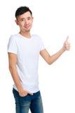 Asian man thumb up Royalty Free Stock Photos