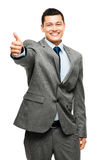 Asian man thumbs up happy Royalty Free Stock Photos