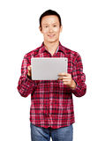 Asian Man With Touch Pad Stock Image
