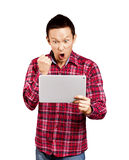 Asian Man With Touch Pad Royalty Free Stock Image