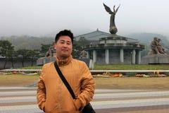 Asian man in travel Stock Photos