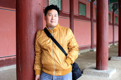 Asian man in travel Royalty Free Stock Images