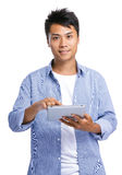 Asian man use digital tablet Stock Image