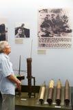 Asian man at War Remnants Museum, Saigon Royalty Free Stock Images