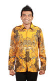 Asian man wearing batik Stock Photos