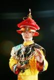 Asian man is wearing a dragon robe Royalty Free Stock Photos