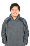 Asian Man Wearing Hoodshirt. Royalty Free Stock Image