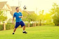 Asian Man With Football Stock Photos