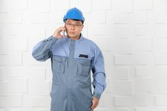 Asian man working royalty free stock image