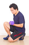 Asian Man Workout. Stock Photography