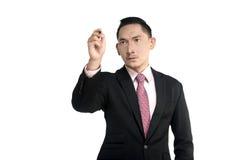 Asian Man Writing Something Stock Image