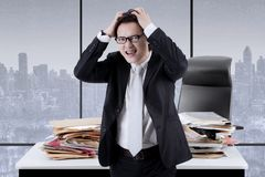 Asian manager having a headache Stock Photos