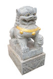 Asian marble lion isolated in shrine, Thailand Stock Images