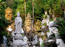 Asian marble sculptures in Da Nang, Vietnam Stock Photos