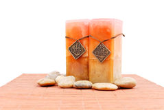 Asian Marbled Candles Stock Photos