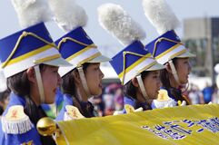 Asian marching band Royalty Free Stock Image