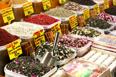 Asian market. A view at spice market in Turkey Stock Photography