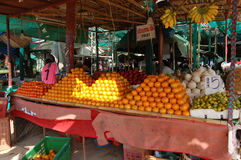 Asian market. Exotic fruits in Thailand Royalty Free Stock Images