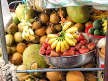 Asian market, exotic fruits Royalty Free Stock Photos