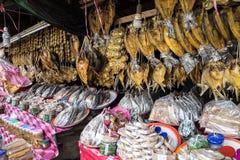Asian market near Vang Vieng in Laos, Asia royalty free stock photo